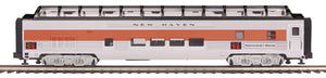 "MTH 20-64113 - 70' Streamlined Full Length Vista Dome Passenger Car ""New Haven"" (Ribbed Sided)"