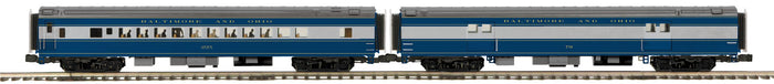 "MTH 20-64140 - 70' Streamlined Baggage/Coach Passenger Set ""Baltimore & Ohio"" (Smooth Sided) 2-Car"