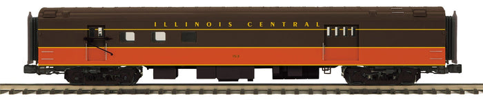MTH 20-64162 Illinois Central 70' Streamlined RPO Passenger Cars (Smooth Sided)