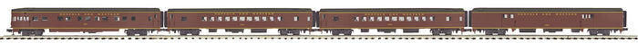 MTH 20-64173 Norfolk & Western 4-Car 70' Streamlined Passenger Set  (Smooth Sided)