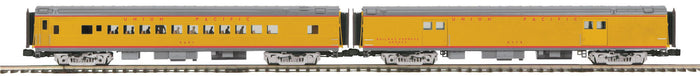 MTH 20-64180 Union Pacific 2-Car 70' Streamlined Baggage/Coach Passenger Set (Smooth Sided)