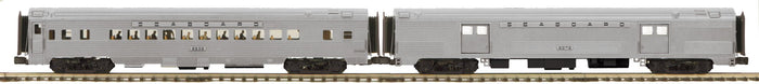MTH 20-64190 Seaboard 2-Car 70' Streamlined Baggage/Coach Passenger Set (Ribbed Sided)