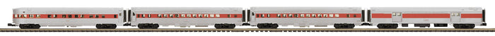 MTH 20-64193 Boston & Maine 4-Car 70' Streamlined Passenger Set  (Ribbed Sided)