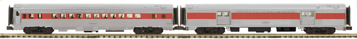 MTH 20-64195 Boston & Maine 2-Car 70' Streamlined Baggage/Coach Passenger Set (Ribbed Sided)