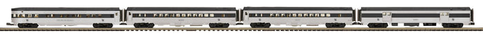 MTH 20-64198 New Haven 4-Car 70' Streamlined Passenger Set  (Ribbed Sided)