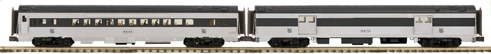 MTH 20-64200 New Haven 2-Car 70' Streamlined Baggage/Coach Passenger Set (Ribbed Sided)