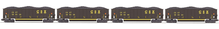 "MTH 20-92224 - Coalporter Hopper Car Set ""CSX"" (4-Car)"