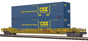 MTH 20-95417 CSX Husky Stack Car