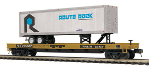 MTH 20-95419 Rock Island Flat Car w/ 40' Trailer