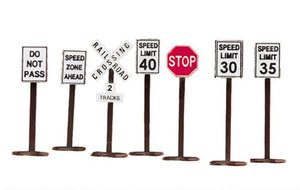 MTH 30-1087 - Road Sign Set
