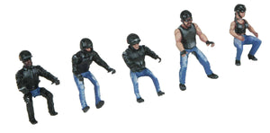 MTH 30-11091  - Motorcycle Figure Set #1 (5-Piece)