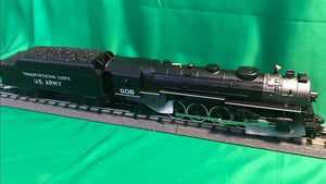 "MTH 30-1831-1 - 4-8-2 L-3 Mohawk Steam Engine ""U.S. Army"" #506 w/ PS3"