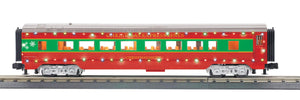 "MTH 30-68202 - 60' Streamlined Coach Car ""Christmas"" w/ LED Lights"