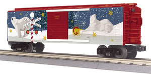 "MTH 30-71033 - Box Car ""North Pole"" w/ Blinking LEDs"
