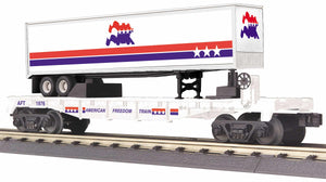 "MTH 30-76782 - Flat Car ""American Freedom"" w/ 40' Trailer"