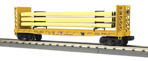 MTH 30-76803 Union Pacific Flat Car with Bulkheads & Pipe Load