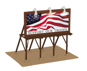 "MTH 30-90623 - Lighted Billboard ""Support Our Troops"""