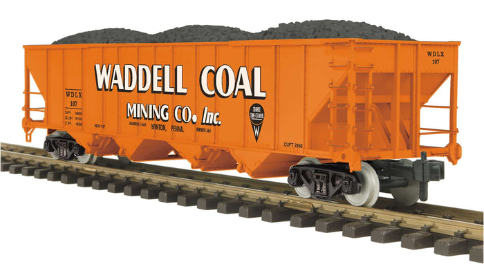 "MTH 70-75060 - 4-Bay Hopper Car ""Waddell Coal"""