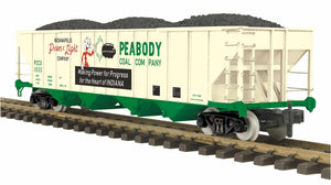 "MTH 70-75074 -  4-Bay Hopper Car ""Peabody Coal"""