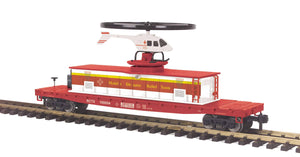 "MTH 70-79012 - Operating Helicopter Car ""Red Cross"""
