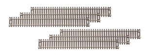 "MTH 80-1002 - HO ScaleTrax 9"" Straight Code 83 Track (6-Pack)"