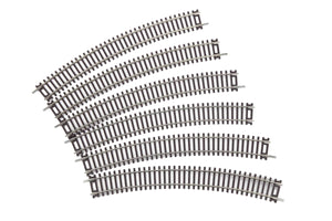 "MTH 80-1019 - HO ScaleTrax 18"" Radius Curve Code 83 Track (6 Pack)"