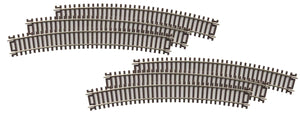 "MTH 80-1023 - HO ScaleTrax 22"" Radius Code 83 Curve Track (6 Pack)"