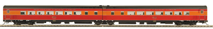 MTH HO 80-60010 Southern Pacific Lines Articulated Chair/Chair Passenger Car Set