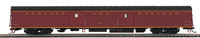 "MTH HO 80-60074 - Streamlined Baggage Car ""Norfolk & Western"" (Smooth)"