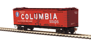 MTH HO 80-94057 Columbia Soups R40-2 Woodside Reefer Car