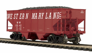 MTH HO 80-97051 Western Maryland USRA 55-Ton Steel Twin Hopper Car