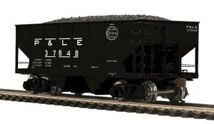 MTH HO 80-97053 Pittsburgh & Lake Erie USRA 55-Ton Steel Twin Hopper Car