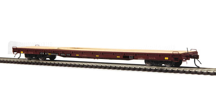 MTH HO 80-98037 CSX 60' Wood Deck Flat Car