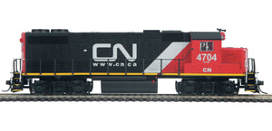 "MTH HO 85-2039-1 - GP38-2 Diesel Locomotive ""Canadian National"" w/ PS3 #4704"