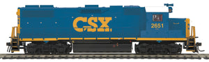 "MTH HO 85-2055-1 - GP38-2 Diesel Locomotive ""CSX"" w/ PS3 #2651"