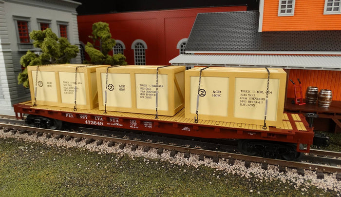 "MTH 20-90877 - Flat Car ""Pennsylvania"" w/ (3) Crates Set (6-Car)"