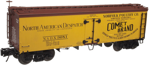 "Atlas O 3001419 - 36' Wood Refrigerator Car ""Norfolk Poultry Company"""