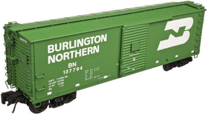 "Atlas O 3001613 - URSA Steel Rebuilt Box Cars ""Burlington Northern"""