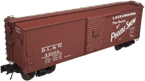 "Atlas O 3001615 - URSA Steel Rebuilt Box Cars ""Lackawanna"""