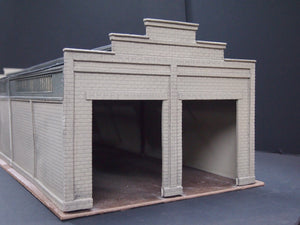 Korber Models #306 - O Scale - 2 Stall Diesel Shed Kit