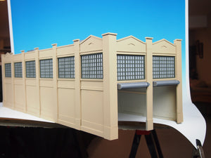 Korber Models #MRS1032 - O Scale - 2 Stall Engine House (Cement) Kit