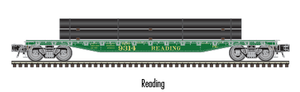 "Atlas O 2002005 - 52'6' Flat Car ""Reading"" w/ Load"