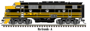 "Atlas O 1615-4 - California Zephyr - EMD F3A Phase 1 ""Rio Grande"" (Powered)"