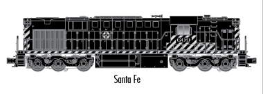 "Atlas O 20030026 - Trainman - TMCC - RSD-7/15 Locomotive ""Santa Fe"" #609"