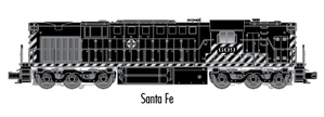 "Atlas O 20040025 - Trainman - DC - RSD-7/15 Locomotive ""Santa Fe"" #604 - 2 Rail"