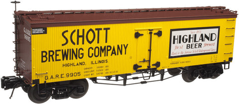 "Atlas O 3001420 - 36' Wood Refrigerator Car ""Schott Brewing Company"""