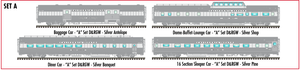 "Atlas O 3009018A California Zephyr ""A"" D&RGW 4-Car Set  - Commemorative Edition - 2 Rail"