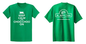 "T-Shirt - ""Keep Calm and Choo-Choo On"" Adult (Tie-Dye)"