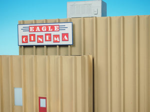 Korber Models #TT2306 - O Scale - Eagle Cinema Background Building Kit