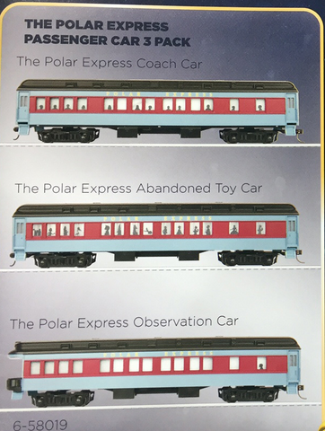 Lionel HO Scale 6-58019 The Polar Express - Passenger Car 3 Pack
